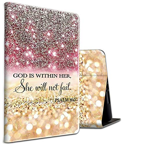 All-New HD 8 Plus Tablet Case, Kindle Fire HD 8 Case 10th Generation 2020 Folding Stand PU Leather Slim Smart Cover with Auto Wake/Sleep for Amazon Fire Tablet 2020,Christian Bible Psalm 46:5