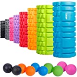 "Sfee Foam Roller with Massage Ball-13""x5.5""EVA Muscles Roller Set for Physical Therapy&Exercise,Deep Tissue,Trigger"