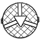 Fransande - Pantalla para faro de motocicleta, diseño retro, concha negra,...