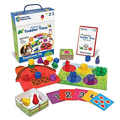 Learning Resources All Ready For Toddler Time Activity Set, Counting, Sorting, Homeschool, 22 Pieces, Ages 2+ by Learning Resources