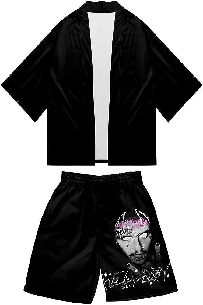 Unisex Lil Peep 3D Printed Summer Casual Cardigan Suit for Men