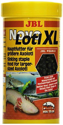 JBL NovoLotl XL 30358 Alleinfutter für große Axolotl, Perlen 250 ml