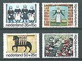 FGNDGEQN Colección de Sellos Bielorrusia Países Bajos 1975 Bienestar Infantil Industria de ordeño de Bienestar HURPHAN 4 Sello Extranjero Completo