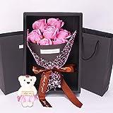 Flor de Jabón Caja de Regalo Rose Flores Artificiales Decoración para Bodas Regalos de cumpleaños Regalos de San Valentín