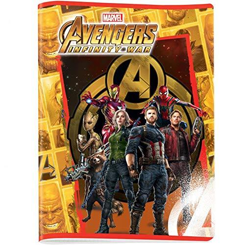 Avengers Infinity War Notizbücher, A4, Lineatur Q (mit Rand), kariert 5 mm für 2. / 3 / 4 / 5. Elementar, Papier 80 g/m², 4 Stück