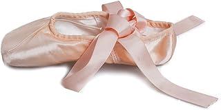 8732860cf87d6 HROYL Femmes Chaussure de Ballet de Pointe Satin Chaussure Danse avec Ruban  Soie Ballerines pour Femmes