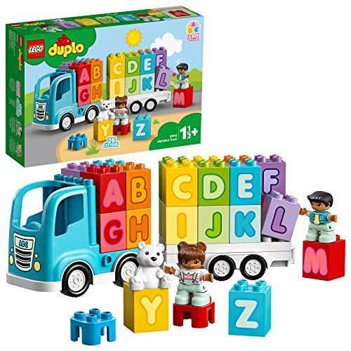 LEGO 10915 DuploMyFirst CamióndelAlfabeto, Juguete Educativo para Niños y Niñas a Partir de 1,5 año con 2 Mini Figuras