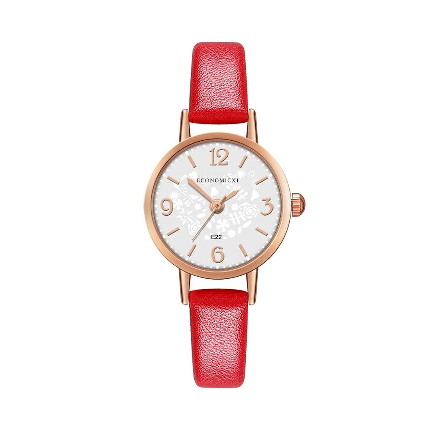 Fashion Women's Watch Digital Design Dial Leather Bands Casual Analog Quartz Wristwatch