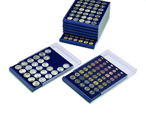 SAFE MÜNZBOX NOVA Nr. 6341 - 20 x 41 mm QUADRATISCHE FÄCHER - IDEAL FÜR 1 DOLLAR US SILBER EAGLE- 5 $ CANADA Dollar MEAPLE LEAF - 500 ÖS SCHILLINGE - 5 MARK Dt. KAISERREICH - Münzen in Münzkapseln bis Caps 35 mm Münzen bis zu einem Durchmesser von 41 mm - Münzenboxen - Münzboxen - Münzelemente