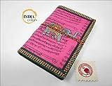 India Colors Regalo Agenda Album Fotos Diario Bloc Cuaderno Viajes Libro visitas. Modelo pequeño. Hecho a Mano en India. Papel Artesanal algodón (Violeta)