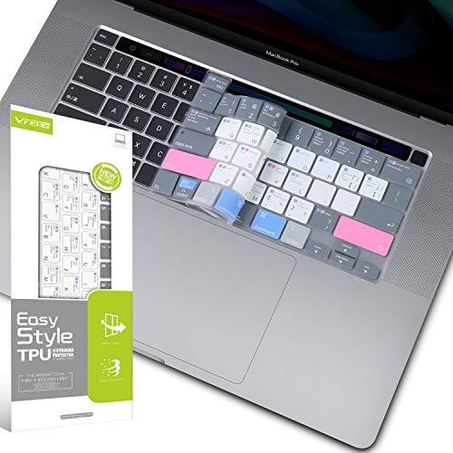 VFENG - Funda de Teclado de Silicona con Teclas de Acceso Directo Mac OS para MacBook Pro de 16 Pulgadas (número de Modelo: A2141, 2019+)