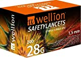 Wellion Safetylancets Sicherheitslanzette, 28g 1.5 Mm -