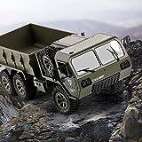 Lotees Camiones todoterreno RC Rc camiones militares escala del 1:12 2.4G 6WD pesado Vehículo de todo terreno a escala completa de ruedas de camión Proporción de control total del ejército de coches d