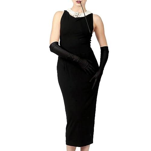 Utopiat Audrey Hepburn Breakfast at Tiffany's Black Cotton Sleeveless Dress Vintage Iconic Costume