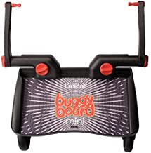 Lascal BuggyBoard Mini, Black, Universal Ride-On Stroller Board, Fits Most Strollers Using The Patented Universal Adapter, Quick Connect and Disconnect, Holds Up To 66 lbs.