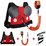 Accmor Toddler Leash Harness, Child Harness Baby Leash + Anti-Lost Wrist Link, Cute Kids Harness with Walking Assistant Strap Belt Tether for 1-5 Years Boys and Girls to Zoo or Mall