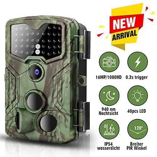 bon comparatif Caméra de chasse Caméra de surveillance 16MP 1080P FHD, 0,2 seconde.  Temps de réponse, caméra de jeu… un avis de 2021