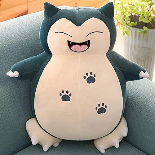 Jumbo Snorlax Plush Toy, Pokemon Center Kabigon Plush Toy, Soft Pillow Giant Teddy, Soft Doll Animal Pillow sufrido Plush, Fluffy Figure Gift for Kids (Happy Style, 80cm/32in)