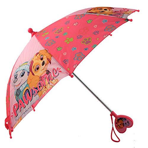 Nickelodeon Little Paw Patrol - Paraguas para niñas (3 a 6 años), diseño de la Patrulla Canina, color rosa