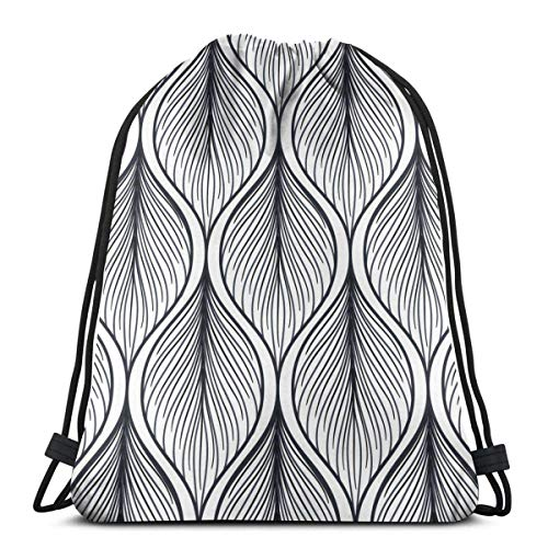 Lawenp Tropical Exotic Flowers and Leaves Unisex Outdoor Rucksack Shoulder Bag Sport Drawstring Backpack Bag