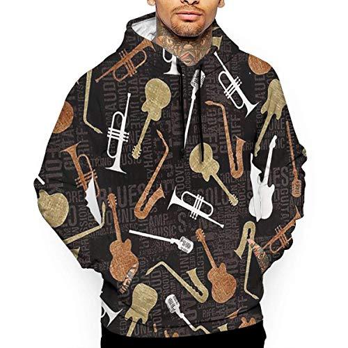 1Zlr2a0IG Gitarren-T-Shirt mit Kapuze mit einem Taschen-Seil-Hut Kundenbezogenheit Mode-Neuheit 3D Männer