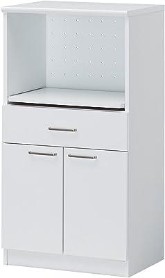 SHIRAI モデレオ スライドレール付カウンターボード MDL-1160SDHWH ホワイト 幅58.2x奥行41x高さ109.8cm