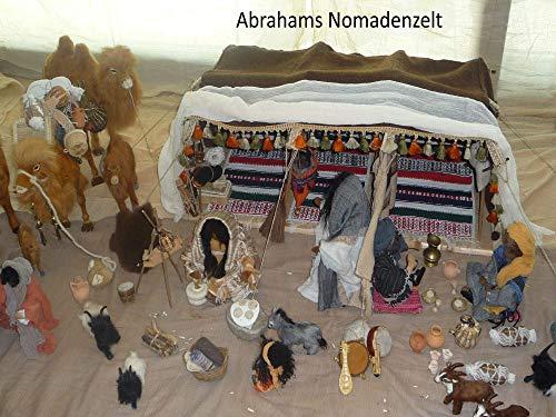 Nomadenzelt Abraham für biblische Erzählfiguren und Egli-Figuren - 80 cm lang