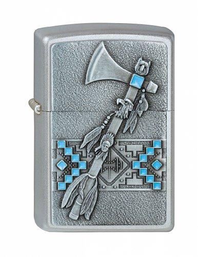 Zippo Zippo Feuerzeug 60001350 Tomahawk Emblem Benzinfeuerzeug, Messing