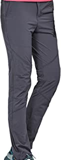 Thin and Elastic Waterproof Pants Hiking Pants for Outdoor Sport Women's Dark Grey Quick Dry Pants Cloth (Size : XXXL)
