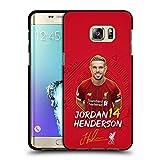 Head Case Designs Licenciado Oficialmente Liverpool Football Club Jordan Henderson 2019/20 Primer Equipo Grupo 1 Funda de Gel Negro Compatible con Samsung Galaxy S6 Edge+ / Plus