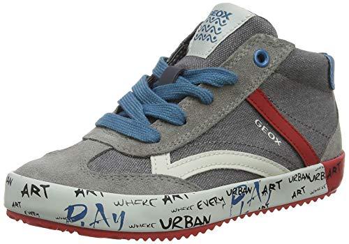 Geox Jungen J Alonisso Boy G Hohe Sneaker, Grau (Grey/Red C0051), 37 EU