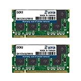 LEVEN DDR2 8GB (4GB×2) 800MHz PC6400 Non-ECC SODIMM PC Computer Laptop Memory Module Ram Upgrade- (JR2S800172208-4Mx2)