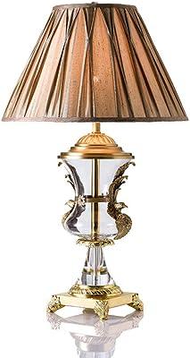 BEIBI Lámpara de Mesa Sencilla y Moderna Código de Oro Cobre ...