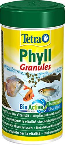 Tetra Phyll Granules Mangime completo per la vitalità, con ingredienti vegetali, 250 ml