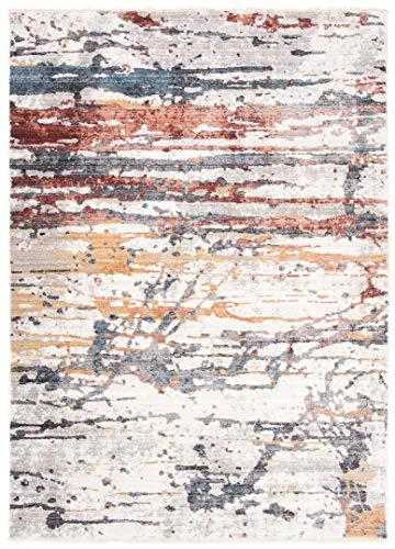 Jupiter - Alfombra moderna de calidad, degradada y brillante, para salón, dormitorio, salón, efecto carving, gris, marrón, pardo, 3092, gris (160 x 240 cm)