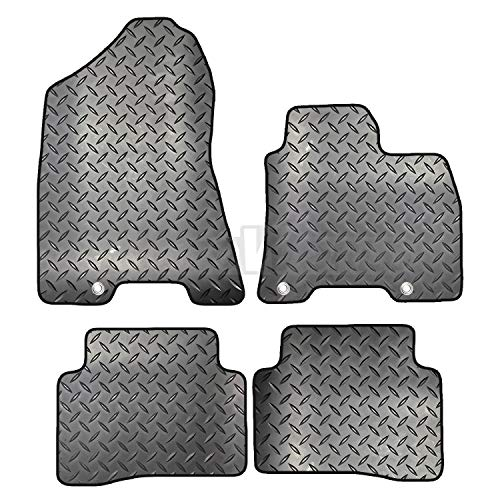 Front /& Rear with Heel Pad with DELUXE Carpet Black Edging 4-Piece Set Lusso Floor Carpet Mats for Car Tailored//Compatible to Fit Hyundai ix35 2010-2016