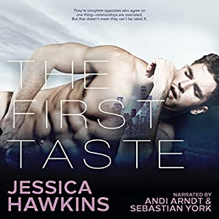 The First Taste                   By:                                                                                                                                 Jessica Hawkins                               Narrated by:                                                                                                                                 Andi Arndt,                                                                                        Sebastian York                      Length: 12 hrs and 37 mins     1,687 ratings     Overall 4.5