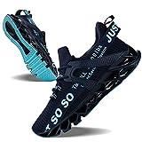 Mens Running Shoes Non Slip Athletic Walking Blade Type Sneakers Dark Blue,US 11