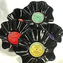 Set of 5 Record Bowls - Christmas Holiday Season Music Recycled Vinyl LPs