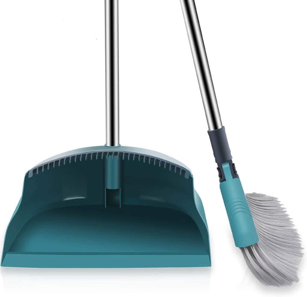 NLIAN- Direct sale of manufacturer Broom and Dustpan Set with Long Cheap bargain Handle Upright Bro Extra