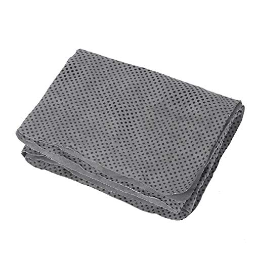 Pssopp Huisdier Badhanddoek Grijs Absorberend Pluche Comfortabele Ultra-Absorberend & Machine Wasbaar Handdoek Kleine hond Kat Badbenodigdheden, 85 * 34 * 0.2cm