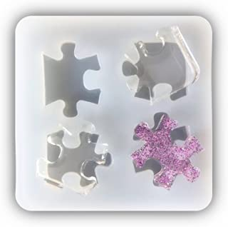 Puzzle Shape Pendant Clay Silicone Mold, Crafting, Epoxy Resin, Jewelry Earrings Making, DIY Mobile Phone Decoration Tools,Semi-Transparent