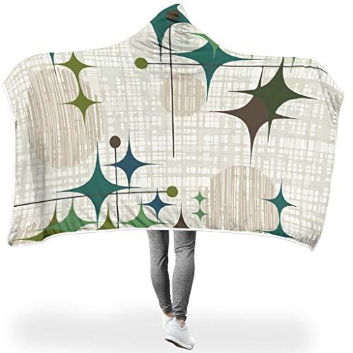 Charzee Starbursts PrintedHome Hooded Blanket Soft-Mantel Decken TV Werfen Decken Für Kinder White #60 * 40#