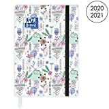 OXFORD Agenda Scolaire Flowers 2020 - 2021 Format 12x18cm Journalier 352 Pages Couverture Motifs Lapins