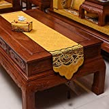 Giow Bandera de Mesa Mesa de Comedor Zen clásica de Madera Maciza de Estilo Chino, Porche, Mueble de TV (35 * 220 cm)