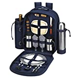 Picnic at Ascot Original Equipped 2 Person Picnic Backpack with Coffee Service, Cooler & I...