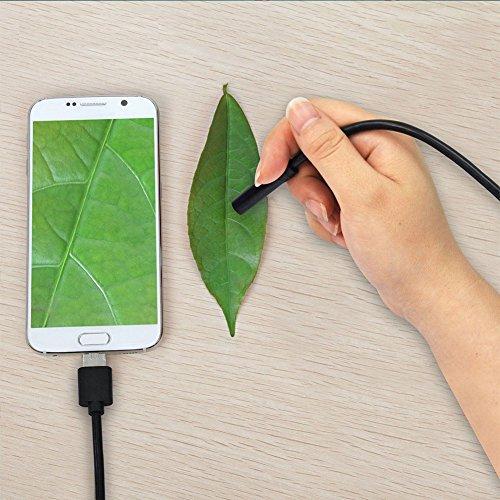 Giantree USB-Endoskop, 2-in-1-Inspektionskamera 2,0 Megapixel CMOS HD wasserdichte Snake-Kamera mit USB-Adapter und 6 verstellbare LED-Licht für Android/Windows