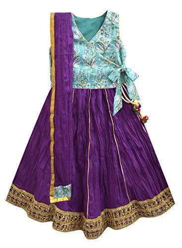 A.T.U.N. All Things Uber Nice Baby Girl's cotton Ghagra Choli (GLHG KIM SFA_Amethyst_1-2 Years)
