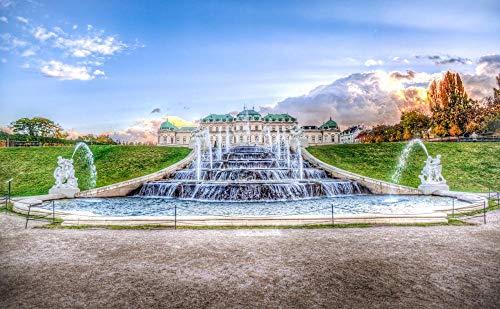 Puzzle De Madera Clásico Decoración Fuente Viena Belvedere Austria Arquitectura Rompecabezas de...