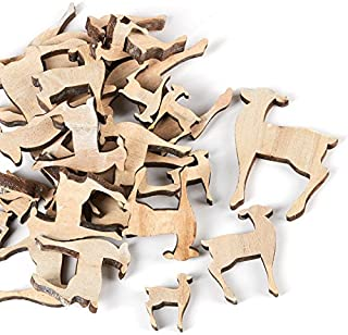 wooden deer cutouts